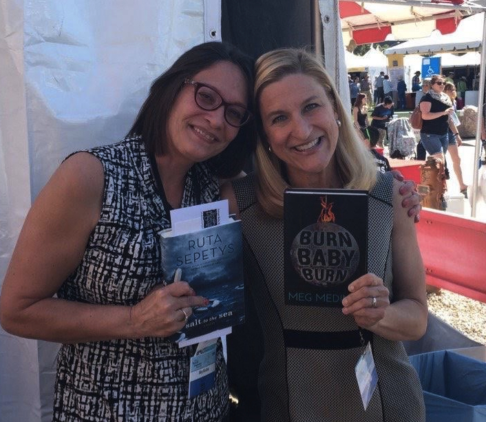 Meg Medina and Ruta Sepetys at the 2016 Tucson Festival of Books