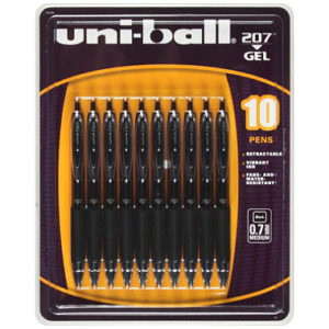 I use Uni-ball .7mm pens