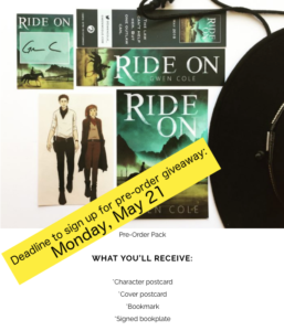 Ride-On pre-order giveaway