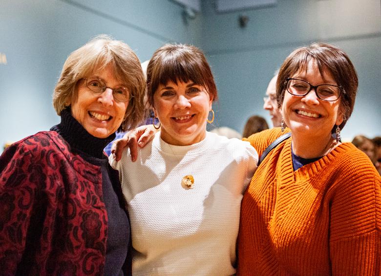 Gigi, Meg and me at the exhibit (photo credit: Penelope M. Carrington)