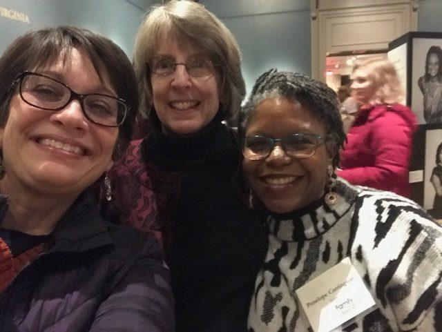 Selfie! Meg Medina, Pen Carrington, and me at the exhibit