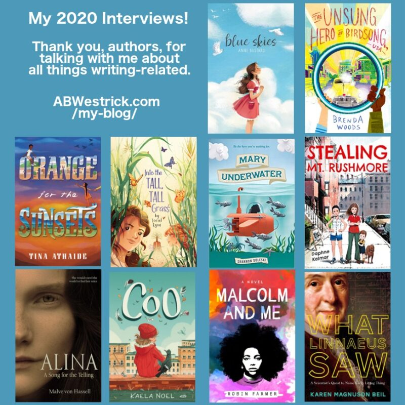 Book Covers.2020 Blog Interviews