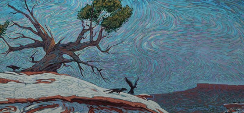 Spring Snow painting by Shonto Begay